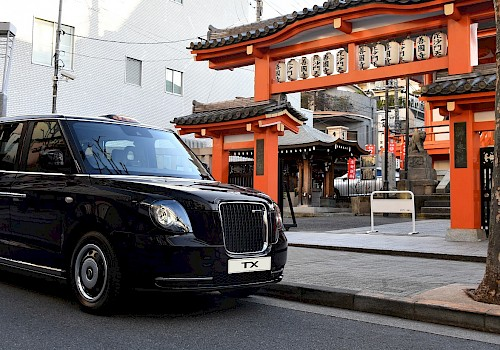 The London electric taxi is headed to Japan